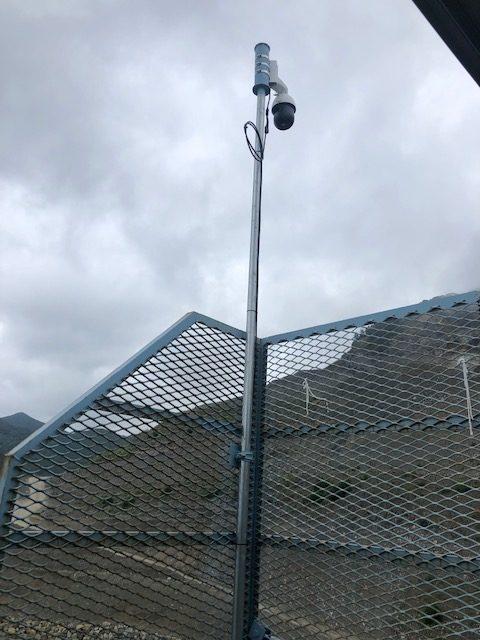 監視カメラ 砕石場